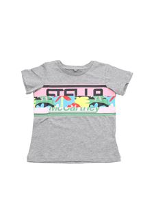 Stella McCartney Kids - Grey t-shirt with multicolor logo print