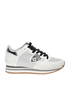 Philippe Model - Tropez H sneakers in white leather and fabric