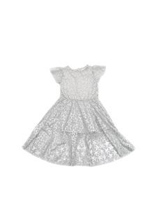Stella McCartney Kids - Dress in grey tulle with star print