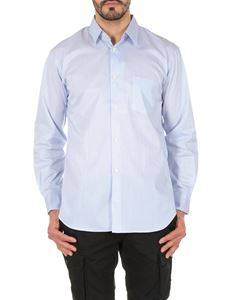 Comme Des Garçons Shirt  - Classic striped shirt in white and light blue