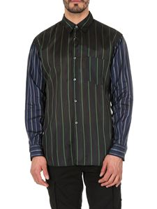 Comme Des Garçons Shirt  - Transparent striped shirt in black and blue