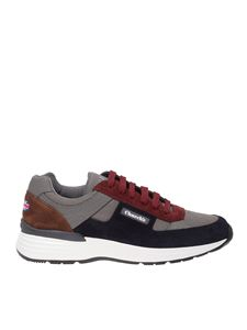 Church's - Rech nylon sneakers in grey and blue