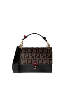 Fendi - Kan I handbag in monogram and black