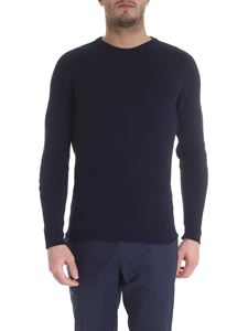 Zanone - Raglan sleeve pullover in blue