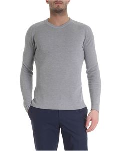 Zanone - Raglan sleeve pullover in light grey