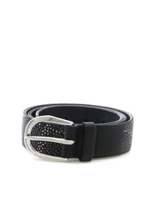 Orciani - Black belt with studs