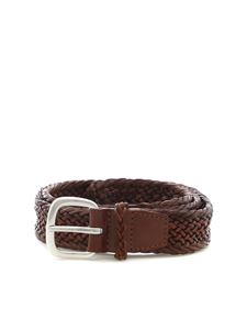Orciani - Brown woven leather belt