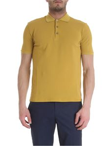 Zanone - Polo in ocher color ice piqué