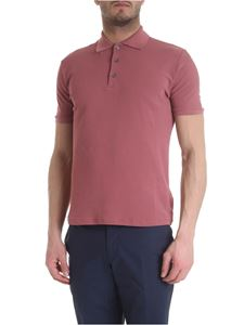 Incotex - Polo in antique pink color ice pique
