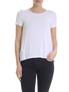 Dondup - White T-shirt with rear opening