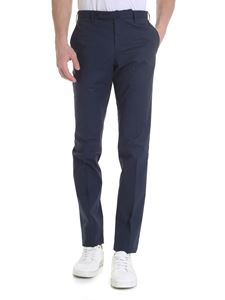 Incotex - Slim fit trousers in blue with slash pockets
