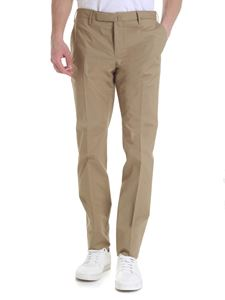 Incotex - Trousers with slash pockets in camel color