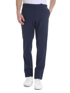 Incotex - Micro houndstooth trousers in blue and black