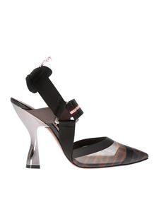 Fendi - Slingback pumps in multicolor technical mesh
