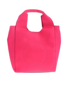 Gaelle Paris - Neon pink shoulder bag with cut-out logo