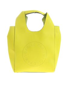 Gaelle Paris - Neon yellow shoulder bag with cut-out logo
