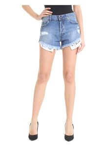 Gaelle Paris - Blue distressed denim shorts