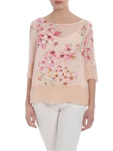 Twin-Set - Powder pink blouse with floral print
