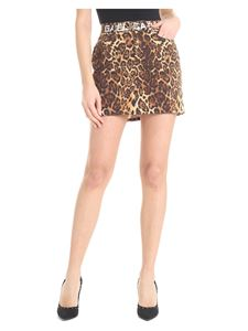 Gaelle Paris - Black and brown skirt with animalier print