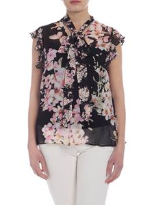 Twin-Set - Black top with floral print