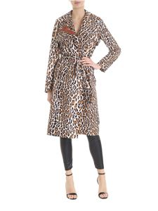 Shirtaporter - Brown Wild trench coat with animalier print