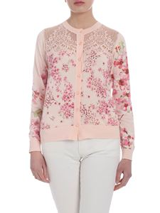 Twin-Set - Powder pink cardigan with lace details