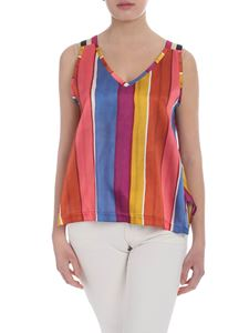 Shirtaporter - Multicolor striped top