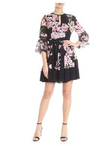 Twin-Set - Black dress with floral print