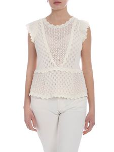 Twin-Set - Cream Twin-Set cut-out top