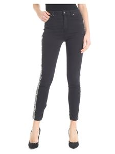 Gaelle Paris - Black Gaëlle Paris jeans with side bands