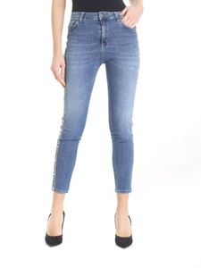 Gaelle Paris - Blue Gaëlle Paris jeans with side bands