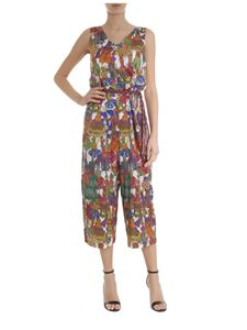 Shirtaporter - Multicolor silk printed jumpsuit