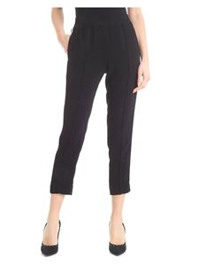Twin-Set - Black trousers with side bands