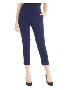 Twin-Set - Blue trousers with side bands