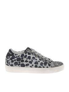 Leather Crown - Sneakers with animal print and glitter