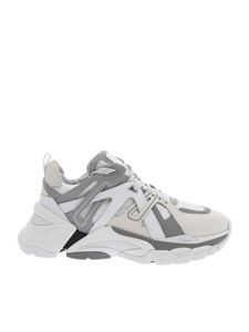Ash - Chunky Flash sneakers in white and beige