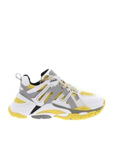 Ash - Chunky Flash sneakers in white and yellow