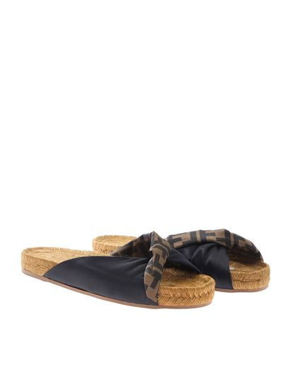 Fendi - Espadrilles with FF crossed twist