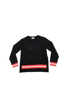 Moncler Jr - Black sweatshirt with mesh details