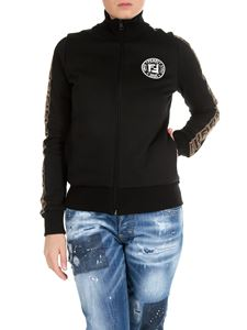 Fendi - High-neck zipped sweatshirt in black