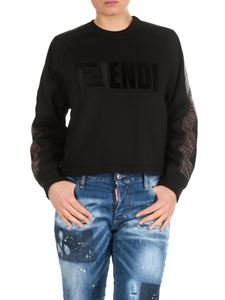 Fendi - FENDI cropped sweatshirt in black