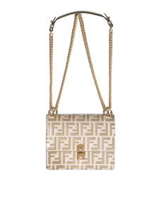 Fendi - Mini-bag Kan I small in camellia and almond color