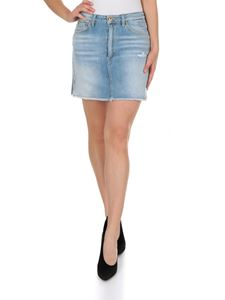 Dondup - 5 pocket mini skirt in light blue