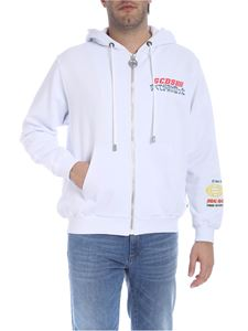 GCDS - Hoodie in white with ideograms