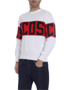 GCDS - GCDS band pullover in white
