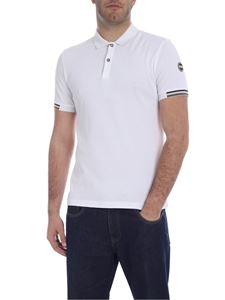 Colmar - Short sleeve polo with logo in white
