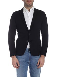 Trussardi Jeans - Two-button single-breasted jacket in black
