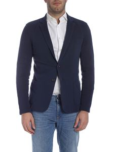 Trussardi Jeans - Two-button single-breasted jacket in blue