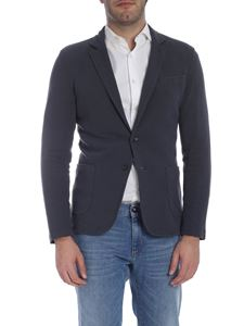 Trussardi Jeans - Single-breasted two-button jacket in dark grey