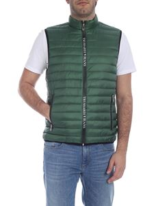 Trussardi Jeans - Quilted down waistcoat in green